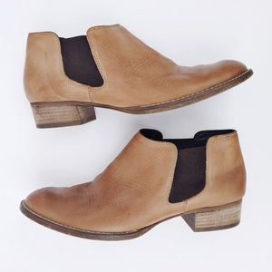 Paul Green Caramel Brown Leather Ankle Boots